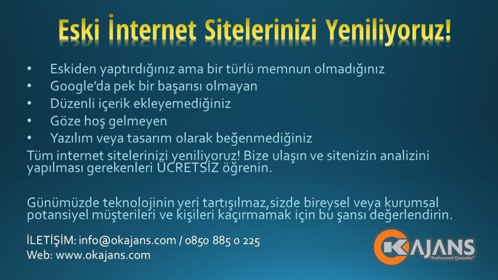 internet sitesi yenileme